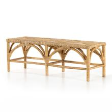 See Details - Auden Accent Bench-wrapped Honey Rattan