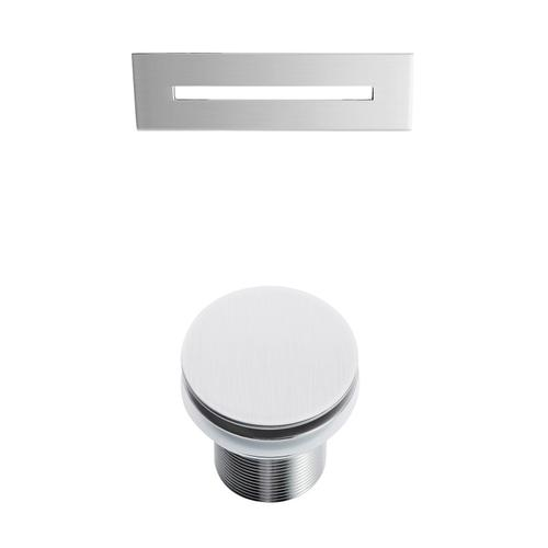 """Nydia 72"""" Acrylic Double Slipper Tub with Integrated Drain and Overflow - Brushed Nickel Drain and Overflow"""