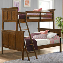 See Details - San Mateo Youth Twin over Full Bunk Bed  Tuscan