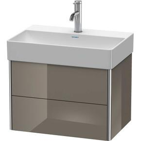 Vanity Unit Wall-mounted Compact, Flannel Gray High Gloss (lacquer)