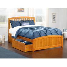 Richmond Queen Bed with Matching Foot Board with 2 Urban Bed Drawers in Caramel Latte