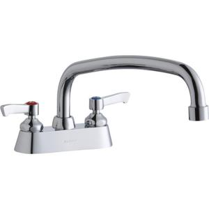 "Elkay 4"" Centerset with Exposed Deck Faucet with 12"" Arc Tube Spout 2"" Lever Handles Product Image"