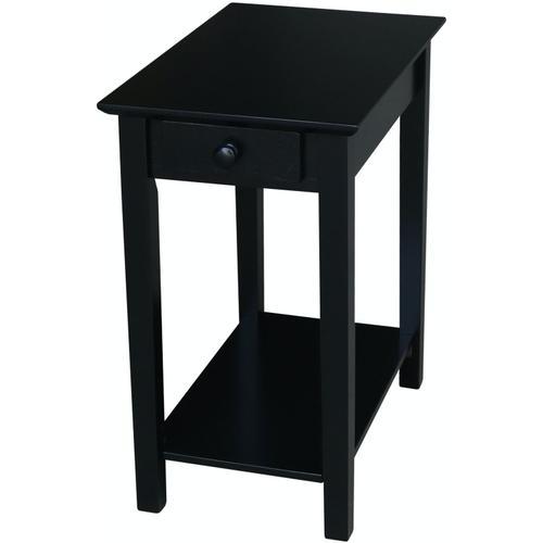 John Thomas Furniture - Narrow End Table in Solid Black