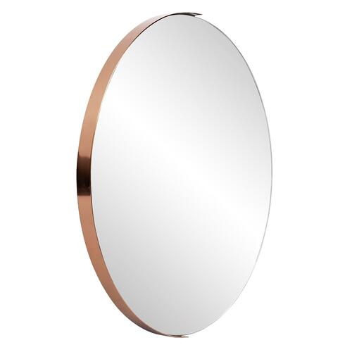 Howard Elliott - Dante Round Rose Gold Mirror