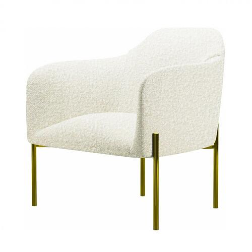 Gallery - Divani Casa Calhan - White Sherpa Accent Chair
