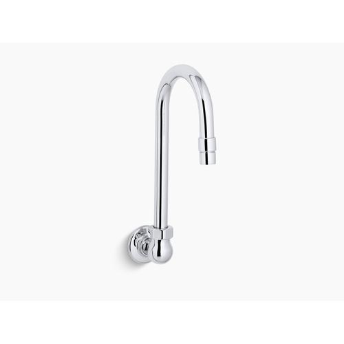 Polished Chrome Sink Gooseneck Spout With Aerator