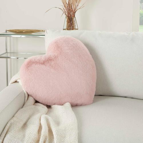 """Faux Fur Sn103 Blush 18"""" X 18"""" Throw Pillow"""