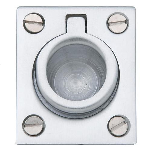 Baldwin - Satin Chrome Flush Ring Pull