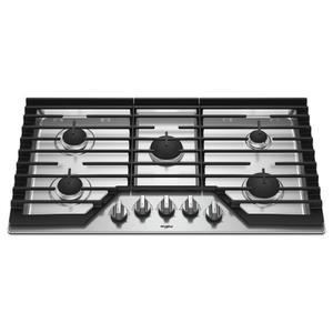 Whirlpool Canada - 36-inch Gas Cooktop with EZ-2-Lift™ Hinged Cast-Iron Grates