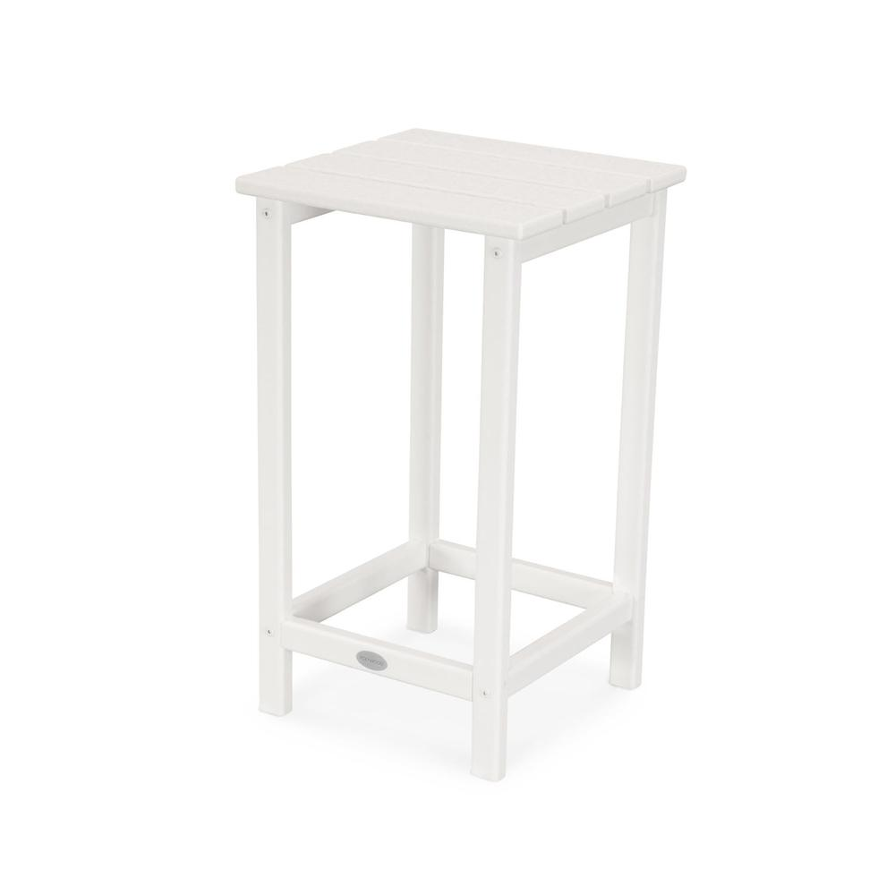 "White Long Island 26"" Counter Side Table"