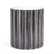 See Details - Reflective Column Side Table-Black Cerused Oak