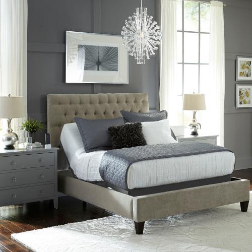 Leggett and Platt - Caliber Low-Profile Adjustable Bed Base with Simultaneous Movement, Flint Onyx Finish, Queen