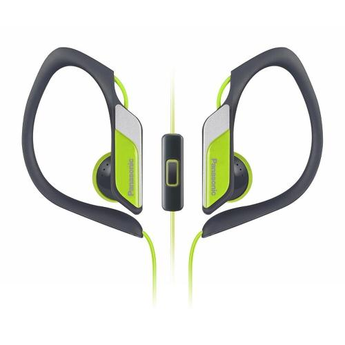 Water-Resistant Sport Clip Earbud Headphones with Mic + Controller - Yellow - RP-HS34M-Y