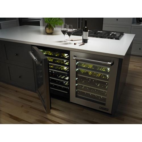 "Euro-Style 24"" Under Counter Wine Cellar Stainless Steel"