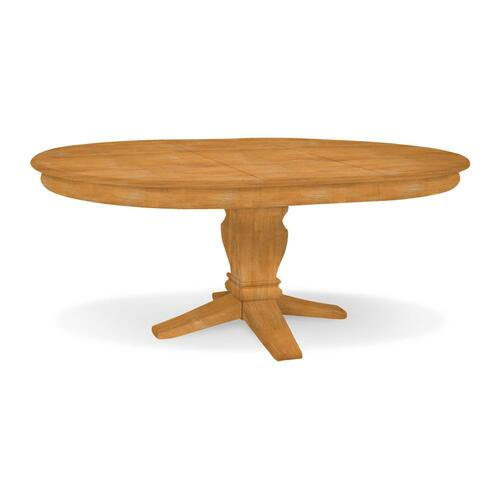Butterfly Leaf Pedestal Table (top only) / 10'' Java Pedestal
