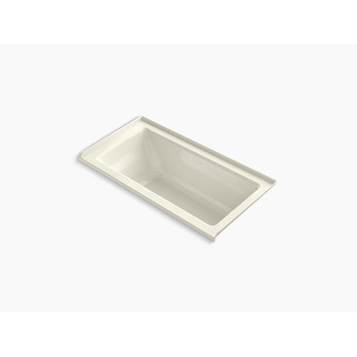 "Biscuit 60"" X 30"" Alcove Bath With Bask Heated Surface, Integral Flange, and Right-hand Drain"