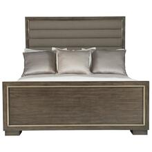 Queen Profile Panel Bed in Warm Taupe (378)