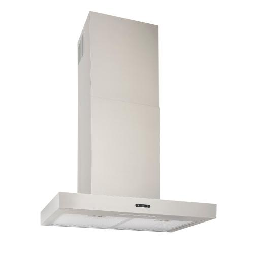 36-In. Convertible Wall Mount T-Style Chimney Range Hood with LED Light in Stainless Steel
