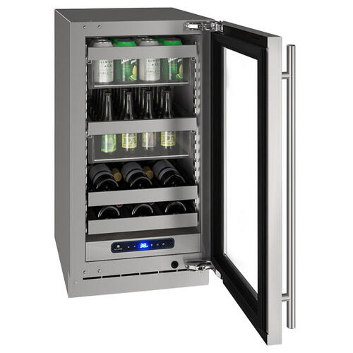 "18"" Beverage Center With Stainless Frame Finish and Field Reversible Door Swing (115 V/60 Hz Volts /60 Hz Hz)"