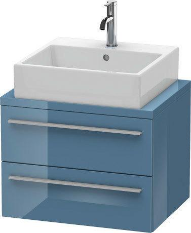 Duravit - Vanity Unit For Console Compact, Stone Blue High Gloss (lacquer)