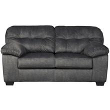 Signature Design by Ashley Accrington Loveseat in Granite Microfiber