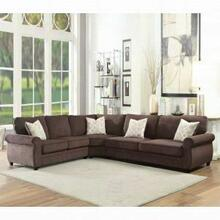 ACME Randolph Sectional Sofa w/Sleeper - 53375 - Chocolate Chenille