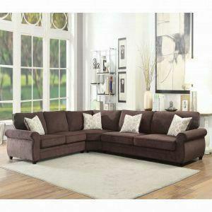 ACME Randolph Sectional Sofa w/Sleeper - 53375 - Chocolate Chenille