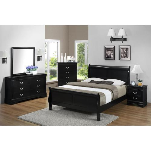 Jet LP Full Panel Sleigh Bed
