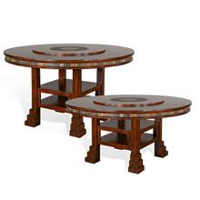 "Santa Fe 60""R Table w/ Lazy Susan"
