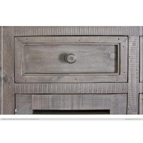 6 Drawer & 2 Doors Console Stone Finish