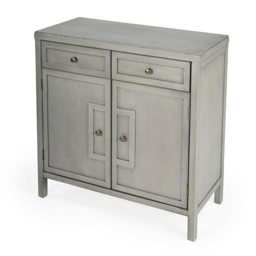 Butler Specialty Company - This stylish console cabinet combines Modern minimalism with Eastern design elements. Featuring clean lines and a Gray finish, its inner storage cabinet and two drawers make it a great addition in an entryway, hallway or living room. Crafted from bayur wood solids and wood products with nickel finished hardware.