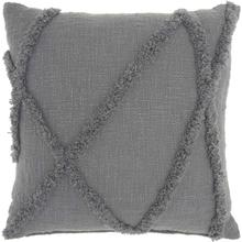 "Life Styles Sh018 Grey 18"" X 18"" Throw Pillow"