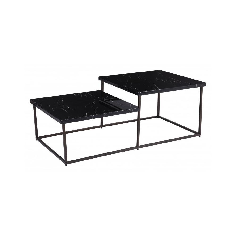 Stanton Coffee Table Black Stone & Antiq