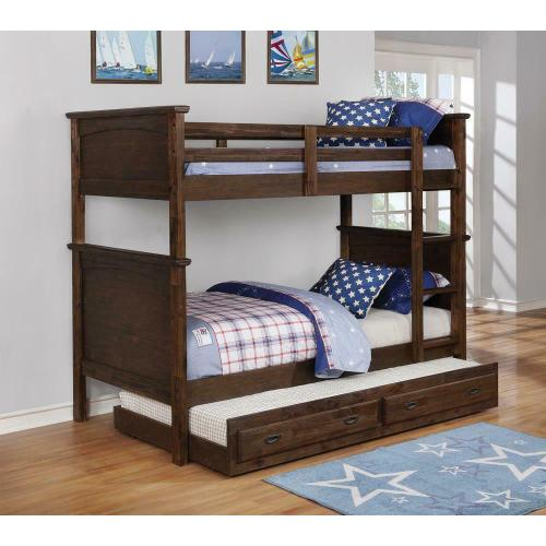 Gallery - Kinsley Rustic Country Brown Twin-over-twin Bunk Bed