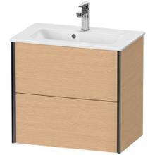 View Product - Vanity Unit Wall-mounted Compact, Brushed Oak (real Wood Veneer)