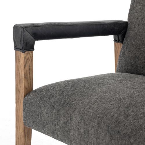 Ives Black/oak Cover Reuben Dining Chair