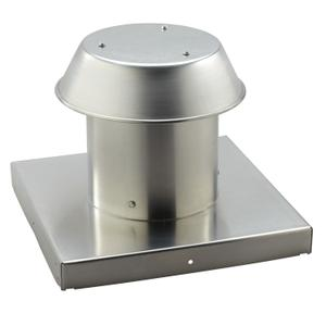 Broan-NuTone® Roof Cap, For Flat Roof, Aluminum, Up to 8-Inch Round Duct -