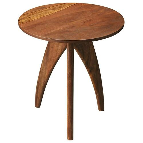 Butler Specialty Company - The modern Lautner accent table combines a classic and futuristic look. The Sheesham wood has a natural Loft finish and the simple shape of the table make it complementary to nearly any space.