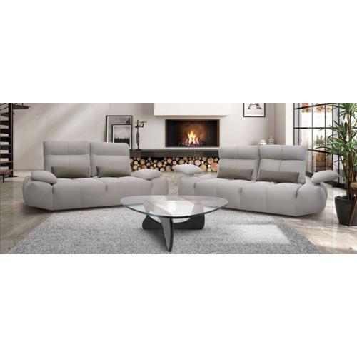 VIG Furniture - David Ferrari Baloon - Modern Grey + Red Fabric Sectional Sofa Set