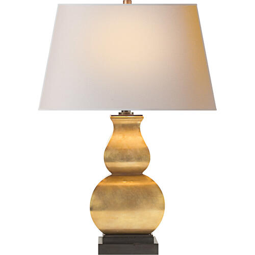 Visual Comfort - E. F. Chapman Fang Gourd 27 inch 150.00 watt Antique-Burnished Brass Decorative Table Lamp Portable Light
