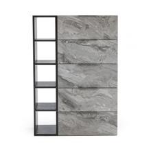 View Product - Nova Domus Maranello - Modern Grey Wash & Faux Marble Chest