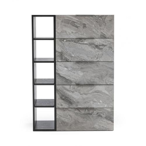 VIG Furniture - Nova Domus Maranello - Modern Grey Wash & Faux Marble Chest