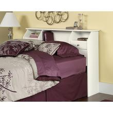 See Details - White Bookcase Headboard - Full/Queen