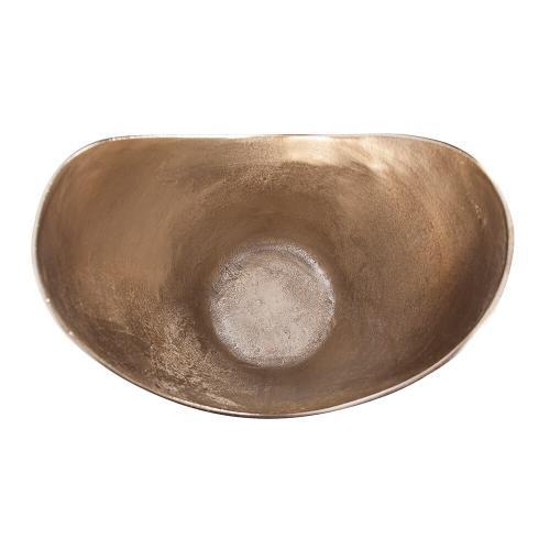 Howard Elliott - Raw Gold Aluminum Hi-Lo Bowl