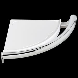 Chrome Contemporary Corner Shelf with Assist Bar Product Image