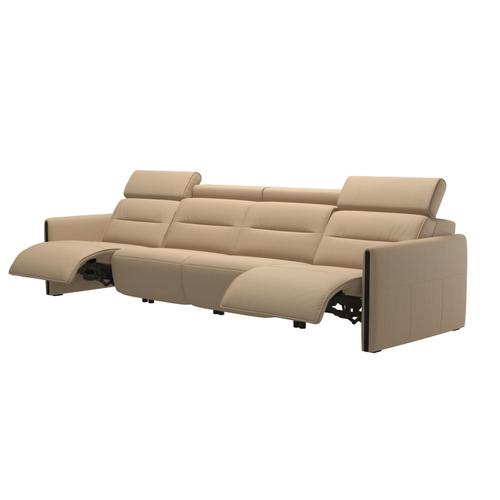 Stressless By Ekornes - Stressless® Emily arm wood 4 seater with 2 Power PDDP