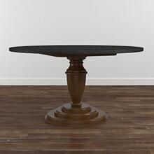 "Custom Dining 48"" Copper Table w/Turned Base"
