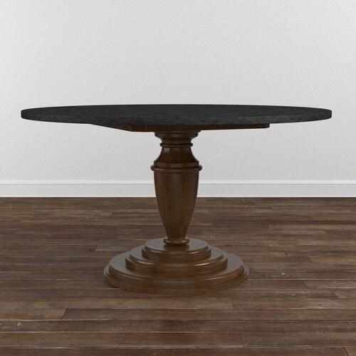 "Custom Dining 48"" Stone Top w/Round Tall"