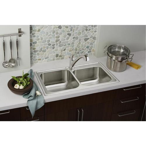 Elkay - Elkay Everyday Single Hole Deck Mount Kitchen Faucet with Pull-out Spray Lever Handle + Optional Escutcheon Chrome