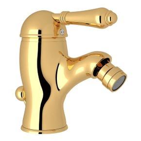 Viaggio Single Lever Single Hole Bidet Faucet - Italian Brass with Metal Lever Handle